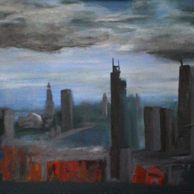 Gemälde »Skyline« von Stefan F.