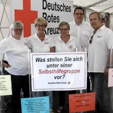 DRK-Selbsthilfegruppen-Team auf dem Hessentag 2017