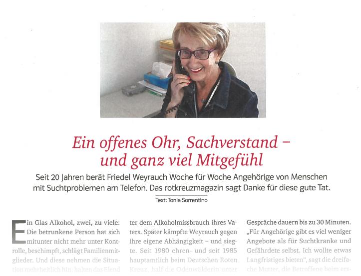 Screenshot Rotkreuzmagazin, Ausgabe 4/18