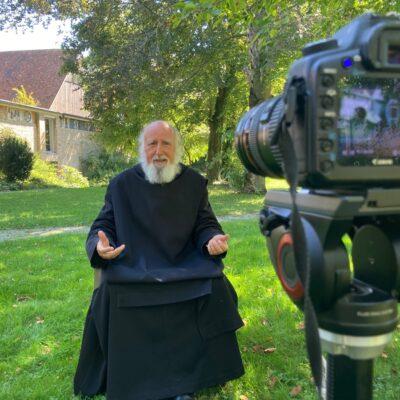 Videodreh mit Pater Anselm Grün